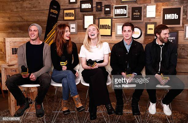 Actors Blake Jenner Michelle Monaghan Elle Fanning actor/executive producer Logan Lerman and director Shawn Christensen of 'Sidney Hall' attend The...