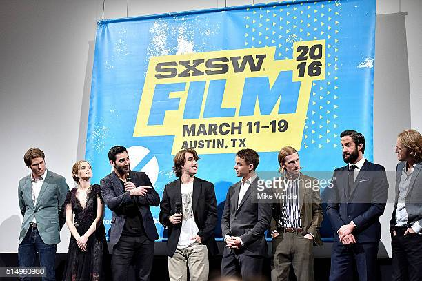 Actors Blake Jenner Zoey Deutch Tyler Hoechlin Temple Baker Will Brittain Austin Amelio Juston Street and Wyatt Russell attend the screening of...