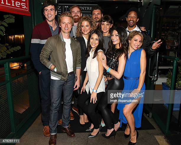 Actors Blake Lee Adam Campbell Andrew Santino Alexis Carra Adan Canto Kate Simses Frankie Shaw Ginger Gonzaga Craig Frank and Vanessa Lengies attend...