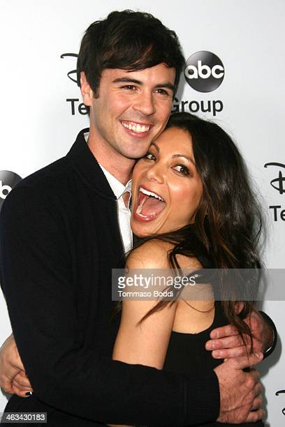 Actors Blake Lee and Ginger Gonzaga attend the Disney ABC Television Group's 2014 winter TCA party held at The Langham Huntington Hotel and Spa on...