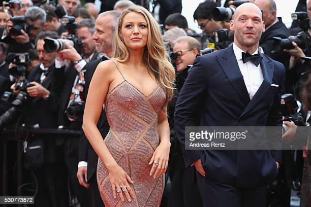 Actors Blake Lively and Corey Stoll attend the 'Cafe Society' premiere and the Opening Night Gala during the 69th annual Cannes Film Festival at the...