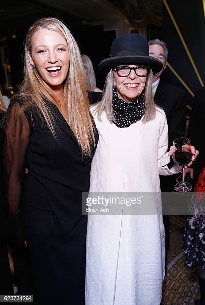 Actors Blake Lively and Diane Keaton attend the L'Oreal Paris Women of Worth Celebration 2016 on November 16 2016 in New York City