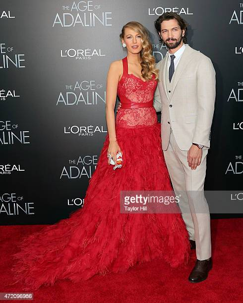 Actors Blake Lively and Michiel Huisman attend The Age of Adaline premiere at AMC Loews Lincoln Square 13 theater on April 19 2015 in New York City