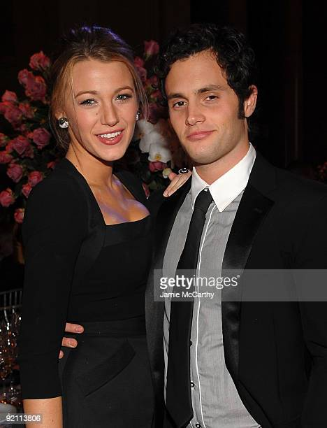 Actors Blake Lively and Penn Badgley attend 2009 Angel Ball to Benefit Gabrielle�s Angel Foundation hosted by Denise Rich at Cipriani Wall Street on...