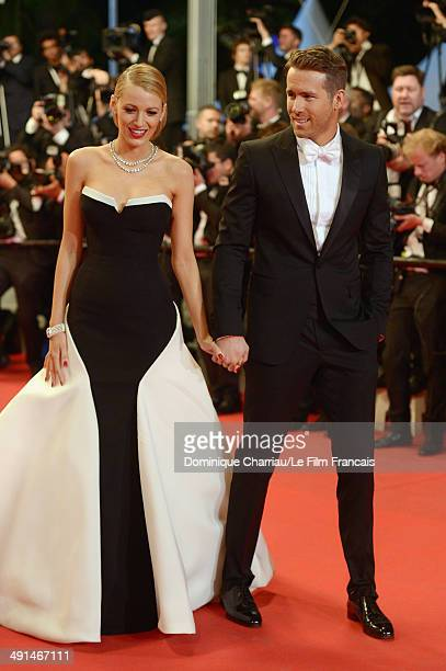 Actors Blake Lively and Ryan Reynolds attend the Captives Premiere at the 67th Annual Cannes Film Festival on May 16 2014 in Cannes France