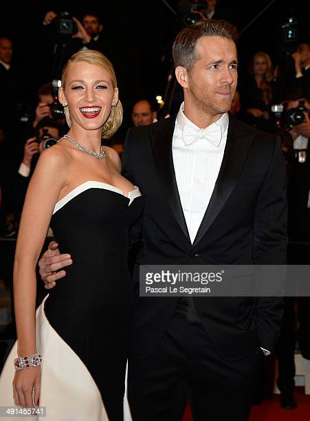 Actors Blake Lively and Ryan Reynolds attend the Captives premiere during the 67th Annual Cannes Film Festival on May 16 2014 in Cannes France