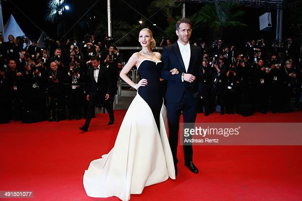 """Actors Blake Lively and Ryan Reynolds attend the """"Captives"""" premiere during the 67th Annual Cannes Film Festival on May 16, 2014 in Cannes, France."""