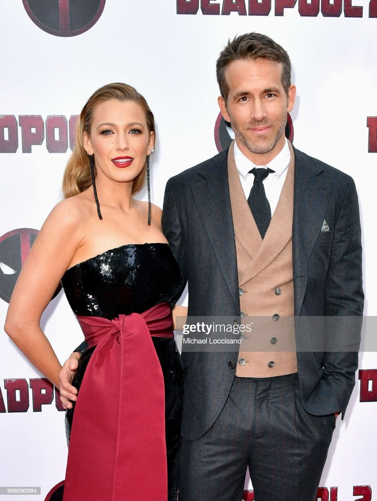 Actors Blake Lively (L) and Ryan Reynolds attend the 'Deadpool 2' screening at AMC Loews Lincoln Square on May 14, 2018 in New York City.