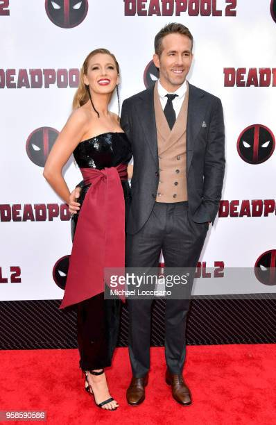 Actors Blake Lively and Ryan Reynolds attend the 'Deadpool 2' screening at AMC Loews Lincoln Square on May 14 2018 in New York City
