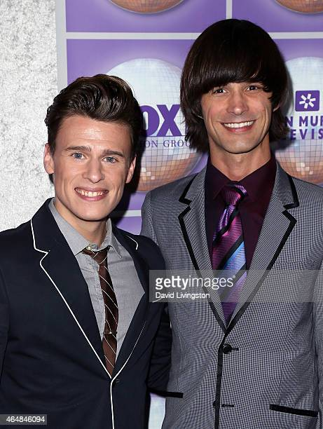Actors Blake McIver Ewing and Emerson Collins attend the Family Equality Council's Los Angeles Awards Dinner at The Beverly Hilton Hotel on February...