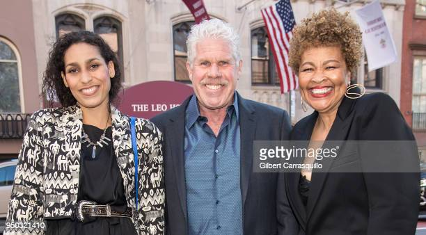 Actors Blake Perlman Ron Perlman and Opal Stone arriving to the screening of 'To Dust' during the 2018 Tribeca Film Festival at SVA Theatre on April...