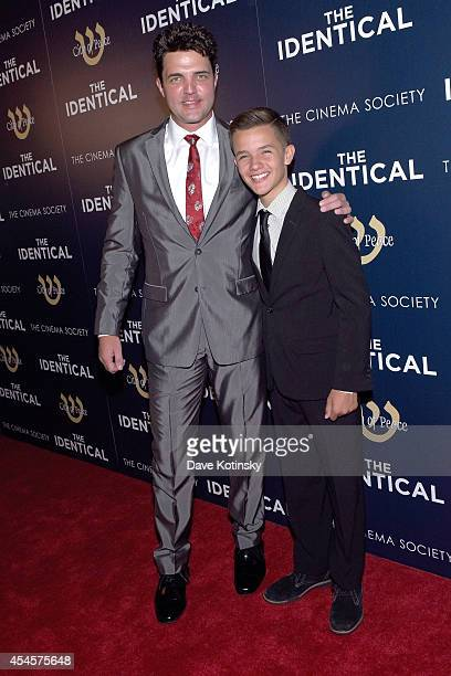 Actors Blake Rayne and Noah Urrea attend City Of Peace Films With The Cinema Society Host The World Premiere Of The Identical at SVA Theater on...