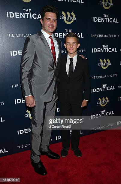 Actors Blake Rayne and Noah Urrea attend the world premiere of The Identical hosted by City Of Peace Films and The Cinema Society at SVA Theater on...