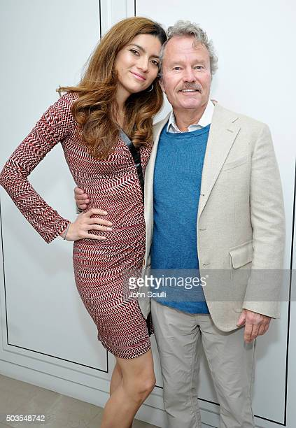Actors Blanca Blanco and John Savage at Burberry and Fox Searchlight Pictures honour the cast and filmmakers of 'Brooklyn' at Burberry on January 5...