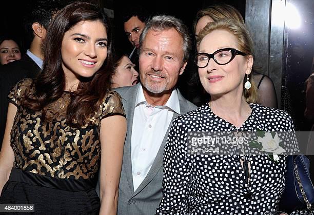 Actors Blanca Blonco John Savage and Meryl Streep attend Women In Film PreOscar Cocktail Party presented by MaxMara BMW Tiffany Co MAC Cosmetics and...