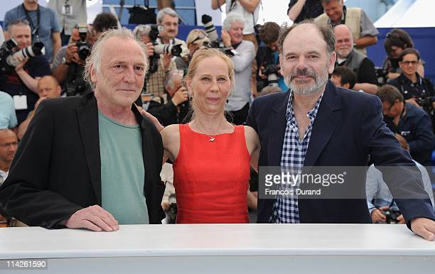 Actors Blondin Miguel Kati Outinen and JeanPierre Darroussin attend the 'Le Havre' photocall at the Palais des Festivals during the 64th Cannes Film...