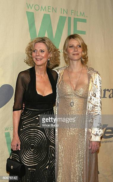 Actors Blythe Danner and daughter Gwyneth Paltrow attend the 2004 Crystal and Lucy Awards A Family Affair Women In Film Celebrate the Paltrow Family...
