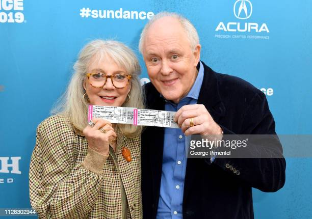 Actors Blythe Danner and John Lithgow attend The Tomorrow Man Premiere during the 2019 Sundance Film Festival at Eccles Center Theatre on January 30...