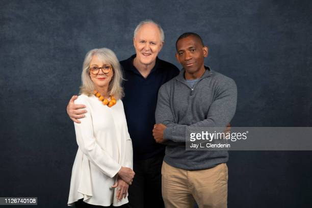 Actors Blythe Danner John Lithgow and director/writer Noble Jones from 'The Tomorrow Man' are photographed for Los Angeles Times on January 29 2019...