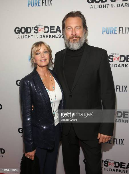 Actors Bo Derek and John Corbett attend the God's Not Dead: A Light in Darkness premiere on March 20, 2018 in Los Angeles, California.