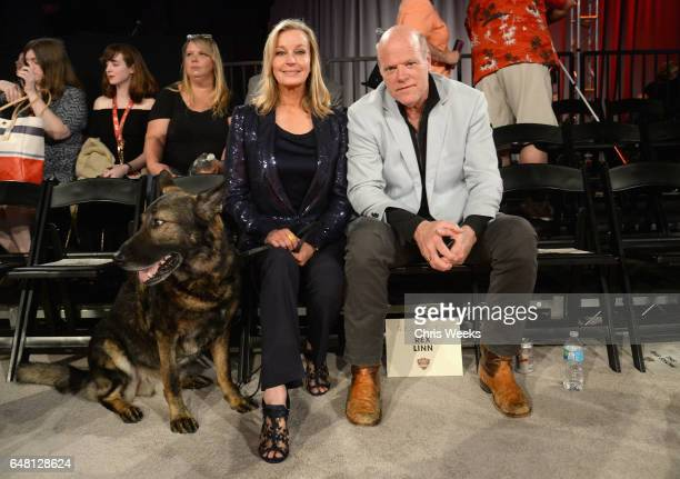 Actors Bo Derek and Rex Linn attend the Annual Kennel Club of Beverly Hills Dog Show at Pomona Fairplex on March 4 2017 in Pomona California
