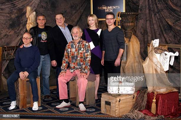 "Actors Bob Balaban, George Clooney, John Goodman, Bill Murray, Cate Blanchett, Matt Damon attend the ""The Monuments Men"" Los Angeles photo call held..."