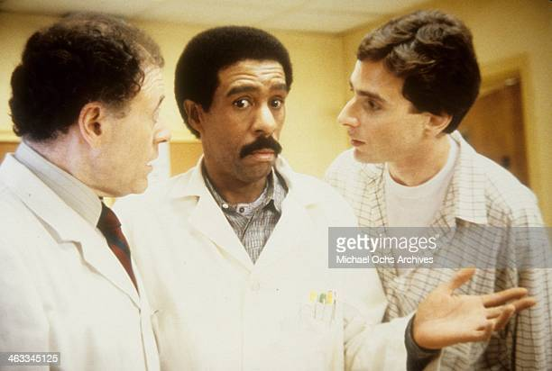 Actors Bob Dishy Richard Pryor and Bob Saget in a scene from the movie Critical Condition which was released on June 16 1987