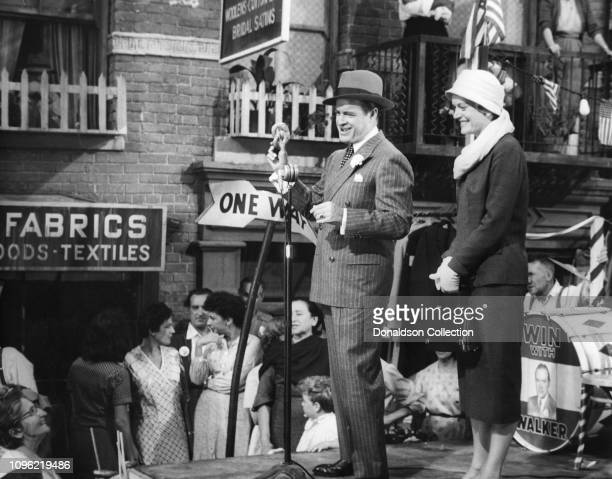 Actors Bob Hope and Alexis Smith in a scene from the movie 'Beau James' which was released on June 7 1957 in Los Angeles California