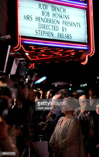 Actors Bob Hoskins and Judi Dench arrive at the Los Angeles premiere of 'Mrs Henderson Presents' at the Fine Arts Theatre December 5 2005 in Beverly...