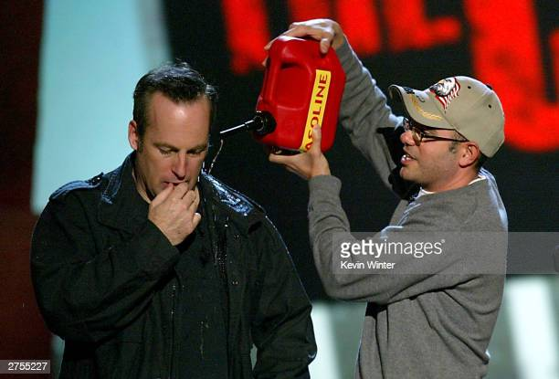 OUT*** Actors Bob Odenkirk and David Cross speak during Comedy Central's First Ever Awards Show The Commies at Sony Pictures Studios in Culver City...