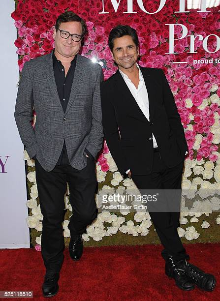 Actors Bob Saget and John Stamos arrive at the Open Roads World Premiere Of 'Mother's Day' at TCL Chinese Theatre IMAX on April 13 2016 in Hollywood...