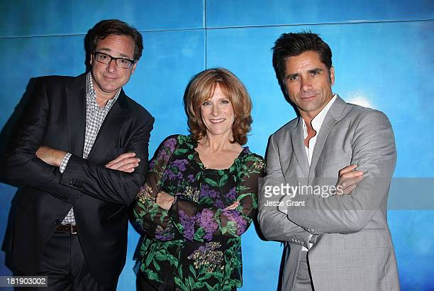 Actors Bob Saget Carol Leifer and John Stamos attend The Starlight Children's Foundation's 30th Anniversary Gala at the Skirball Cultural Center on...