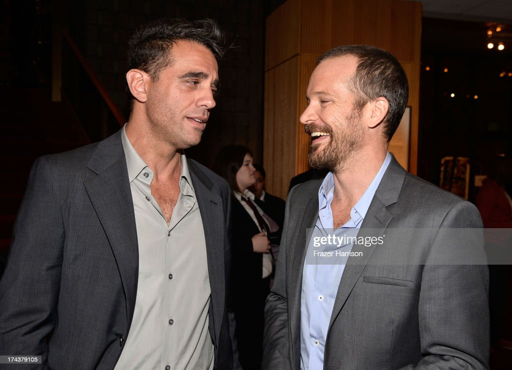 Actors Bobby Cannavale and Peter Sarsgaard attend the after party for the premiere of 'Blue Jasmine' hosted by AFI & Sony Picture Classics at AMPAS Samuel Goldwyn Theater on July 24, 2013 in Beverly Hills, California.