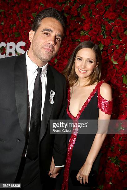 Actors Bobby Cannavale and Rose Byrne attend 70th Annual Tony Awards Arrivals at Beacon Theatre on June 12 2016 in New York City