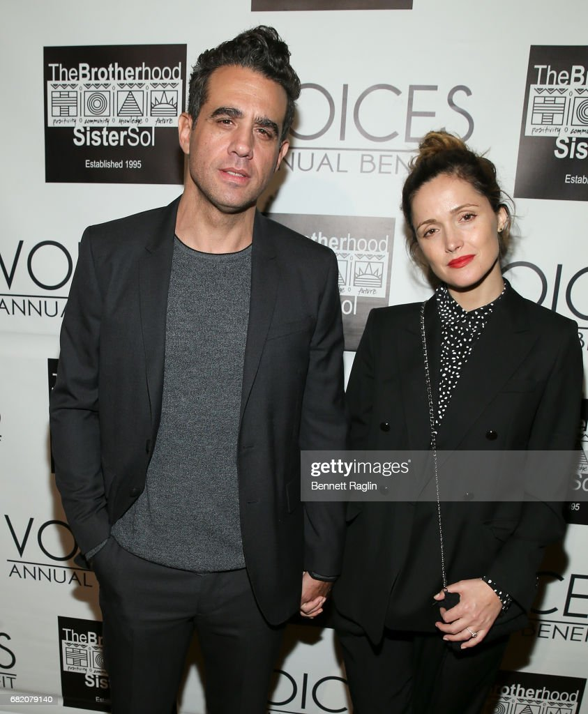 Actors Bobby Cannavale and Rose Byrne attends the Brotherhood/Sister Sol 2017 Gala at Gotham Hall on May 11, 2017 in New York City.