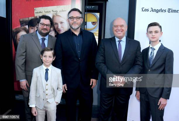 Actors Bobby Moynihan Jacob Tremblay director Colin Trevorrow actors Dean Norris and Jaeden Lieberher attend the 2017 Los Angeles Film Festival...