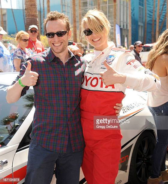 Actors Bodhi Elfman and Jenna Elfman attend the 37th Annual Toyota Pro/Celebrity Race on April 20 2013 in Long Beach California