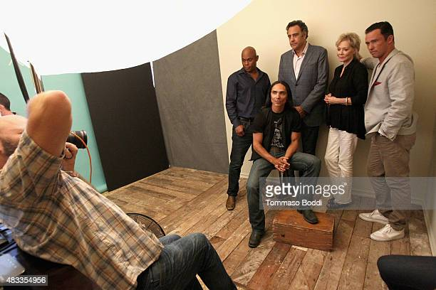 Actors Bokeem Woodbine Zahn McClarnon Brad Garrett Jean Smart and Jeffrey Donovan of FX's 'Fargo' attend the Getty Images Portrait Studio powered by...