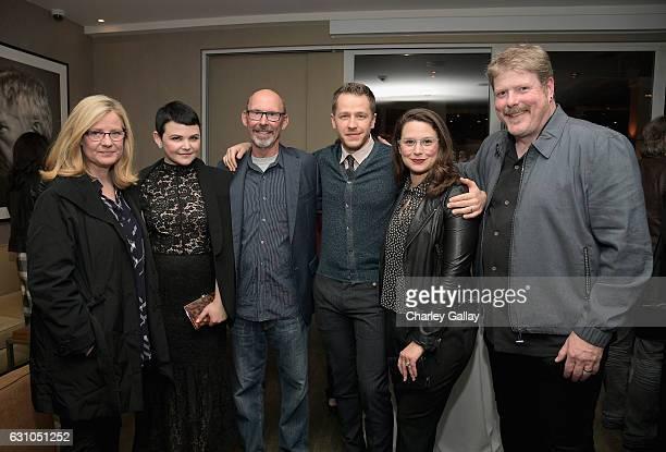 Actors Bonnie Hunt Ginnifer Goodwin Don Lake Josh Dallas Katie Lowes and John DiMaggio attend a reception to honor ZOOTOPIA screenwriters Jared Bush...
