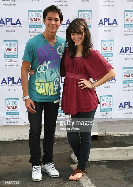 Actors BooBoo and Fivel Stewart attend the 25th Annual AIDS Walk Los Angeles on October 18 2009 in Los Angeles California