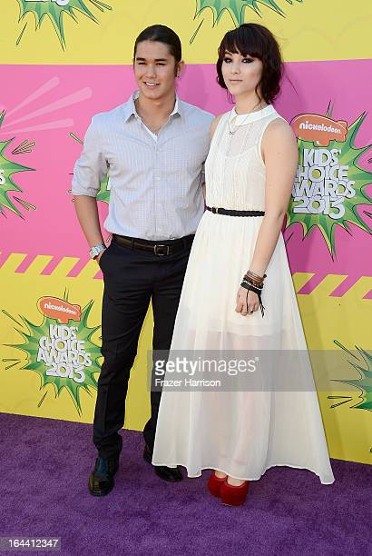Actors Booboo Stewart and Fivel Stewart arrive at Nickelodeon's 26th Annual Kids' Choice Awards at USC Galen Center on March 23 2013 in Los Angeles...