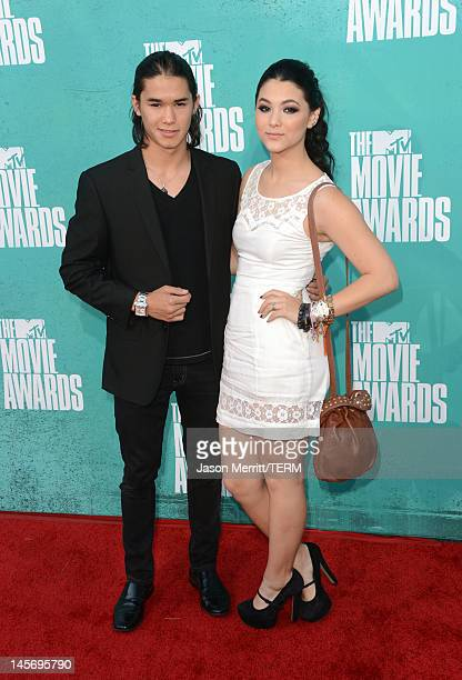 Actors Booboo Stewart and Fivel Stewart arrive at the 2012 MTV Movie Awards held at Gibson Amphitheatre on June 3 2012 in Universal City California