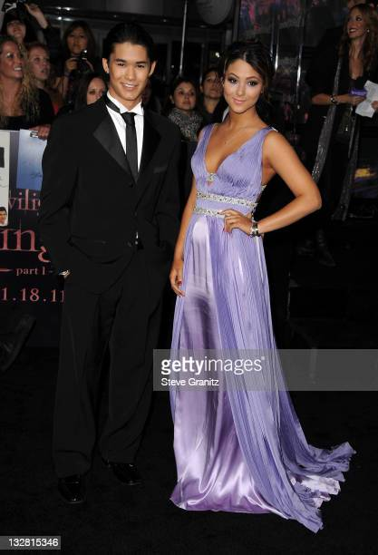 Actors Booboo Stewart and Fivel Stewart arrive at the Los Angeles premiere of The Twilight Saga Breaking Dawn Part 1 held at Nokia Theatre LA Live on...