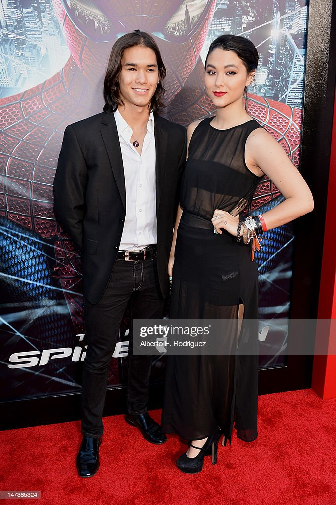 Actors Booboo Stewart (L) and Fivel Stewart arrive at the premiere of Columbia Pictures' 'The Amazing Spider-Man' at the Regency Village Theatre on June 28, 2012 in Westwood, California.