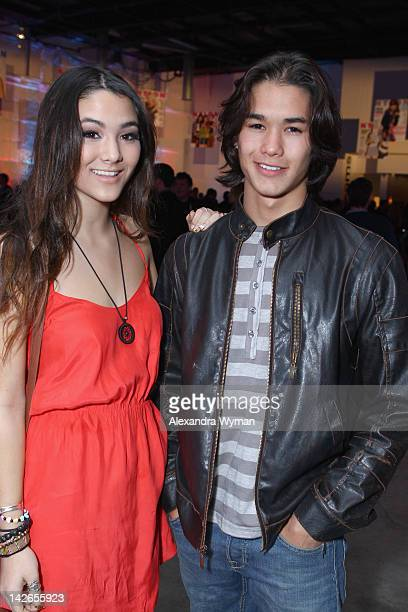 Actors Booboo Stewart and Fivel Stewart attend the NYLON Magazine 13th Anniversary Celebration Presented by Beadhead by Tiji at Smashbox West...