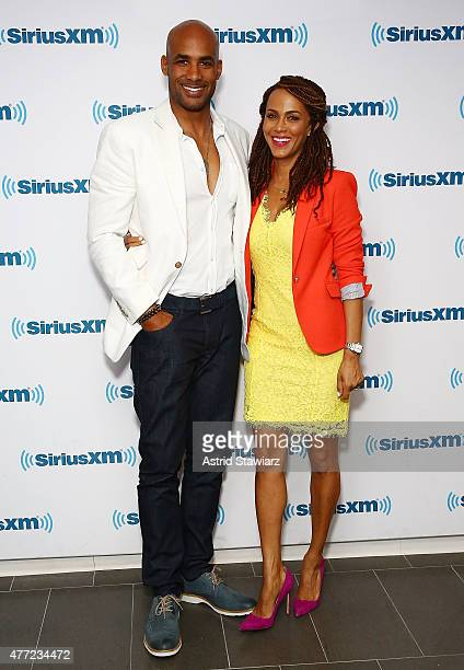 Actors Boris Kodjoe and Nicole Ari Parker visit the SiriusXM Studios on June 15 2015 in New York City