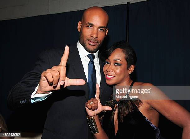 Actors Boris Kodjoe and Tichina Arnold attend the 16th Annual Super Bowl Gospel Celebration at ASU Gammage on January 30 2015 in Tempe Arizona