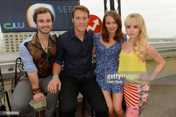 Actors Brad Bell Sean Hemeon Amy Acker and Alessandra Torresani attend BuzzFeed's ComicCon bash presented by CW Seed at San Diego Marriott Gaslamp...