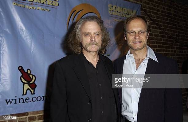 Actors Brad Dourif and David Hyde Pierce attend a wine tasting and CD release party for Sonoma Uncorked narrated by David Hyde Pierce at Cinespace...