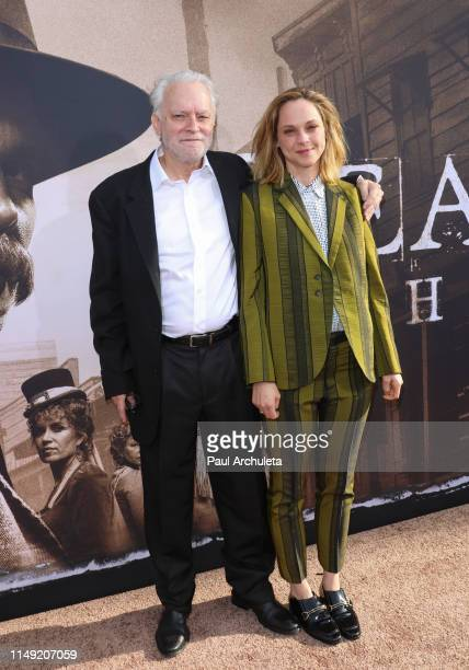 Actors Brad Dourif and Fiona Dourif attend the LA premiere of HBO's Deadwood at The Cinerama Dome on May 14 2019 in Los Angeles California